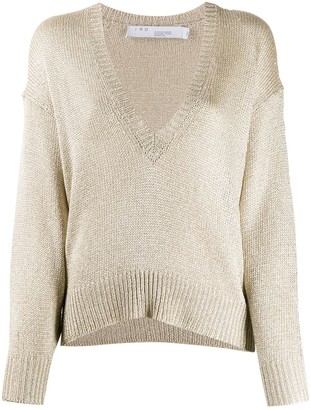 IRO oversized V-neck jumper