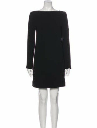 Celine Bateau Neckline Mini Dress Black