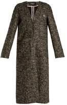 Rochas V-neck wool-blend bouclé coat