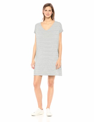 Daily Ritual Amazon Brand Women's Supersoft Terry Dolman-Sleeve V-Neck Dress