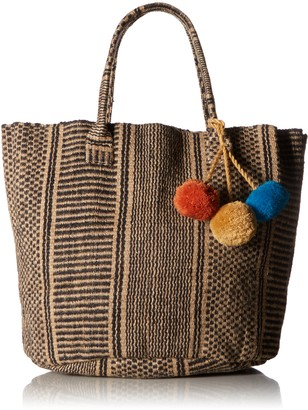 Ale By Alessandra Women's Tortuga Two-tone Woven Jute Tote