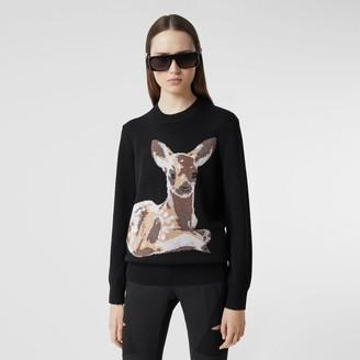 Burberry Deer Intarsia Woo Sweater