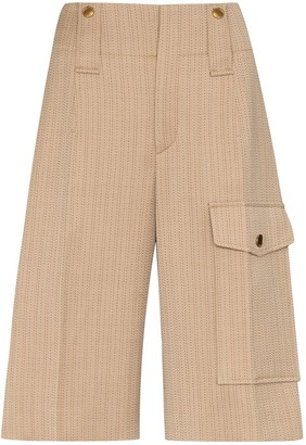 Chloé Pinstripe Knee-Length Shorts