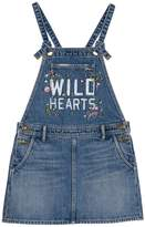 Juicy Couture Wild Hearts Denim Pinafore for Girls