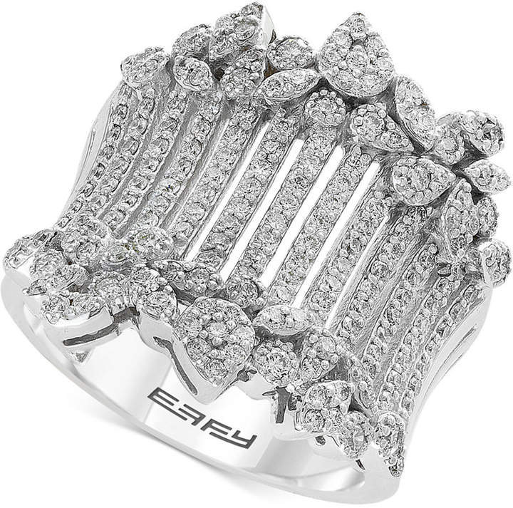Effy Diamond Wide Statement Ring (1 ct. t.w.) in 14k White Gold