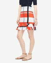 Ann Taylor Picnic Striped Flounce Skirt