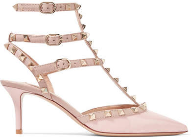Valentino Garavani The Rockstud Patent-leather Pumps - Blush
