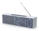 Lexon Titanium LED Clock Radio - Aluminium