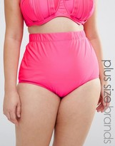Monif C Pink High Waist Bikini Bottom