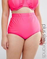 Monif C Pink High Waist Bikini Bottom