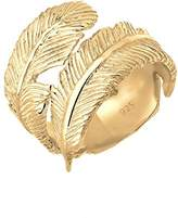 Elli Women Wrapped Boho 925 Silver Gold Plated Adjustable Ring