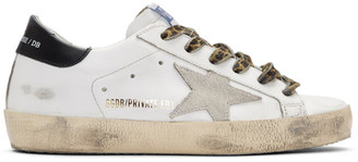 Golden Goose SSENSE Exclusive White Leopard Superstar Sneakers