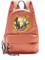 See by Chloe Cactus and logo-embroidered satin backpack