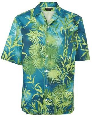 Versace Jungle print short sleeves shirt