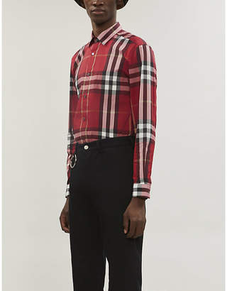 Burberry Nelson checked cotton and nylon-blend shirt