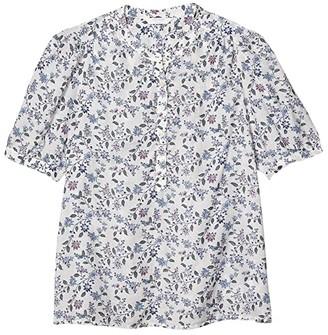 Lucky Brand Poet Popover Blouse (White Multi) Women's Clothing