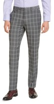 Alfani Men's Slim-Fit Stretch Gray Plaid Suit Pants, Created for Macy's