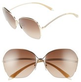 Victoria Beckham Women's Fine Wave 61Mm Sunglasses - Gold/ White/ Chocolate