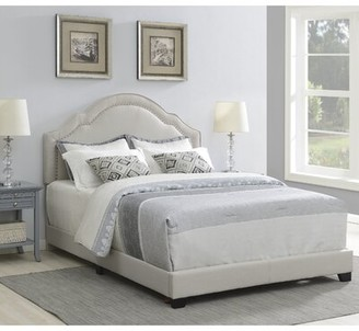 Laurel Foundry Modern Farmhouse Cathey Upholstered Standard Bed Size: King, Color: Fog Gray