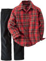 Carter's Toddler Boy Plaid Flannel Button-Front Shirt & Corduroy Pant Set