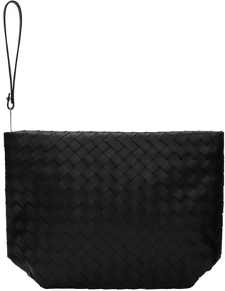 Bottega Veneta Black Large Intrecciato Document Holder