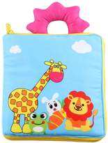 Baby Clothes Books, KAKIBLIN Soft Baby Books Non-Toxic Fabric Crinkle Paper Activity Soft Books for Babies, Toddlers, Educational Toys, Giraffe