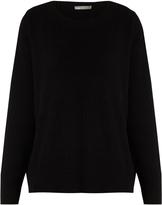 Vince Split-back cashmere and cotton-blend sweater