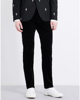 Neil Barrett Skinny Velvet Trousers