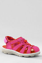 Lands' End Youth Action Closed Toe Sandals-Cosmos Pink