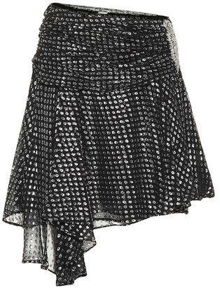 Dodo Bar Or Silk fil coupe miniskirt