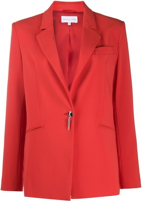 Patrizia Pepe Button-Detail Long Sleeve Blazer