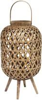 Stratton Home Reddish Brown Tulum Woven Lantern Stand
