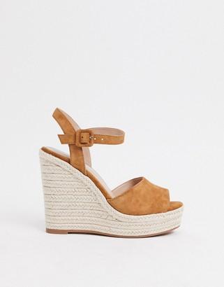 Aldo high wedge sandals in tan