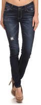 Navy Rock & Royal Distressed Skinny Jeans