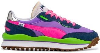Puma Colour-Block Panelled Sneakers