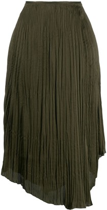 Vince Crushed Drape skirt