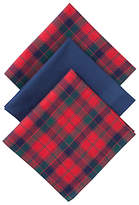 John Lewis Tartan Handkerchiefs, Pack of 3, Red