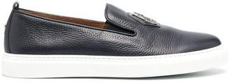 Philipp Plein Logo Plaque Slip-On Sneakers