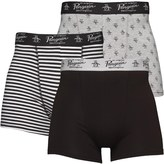 Original Penguin Mens Three Pack Boxers Black/White/Grey