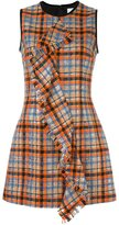 MSGM checked ruffled front dress - women - Polyamide/Polyester/Wool - 42