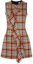 MSGM checked ruffled front dress - women - Polyamide/Polyester/Wool - 44