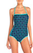 DKNY Close Up Bandeau Maillot One-Piece Swimsuit