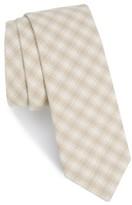 The Tie Bar Men's Mesh Plaid Cotton Tie