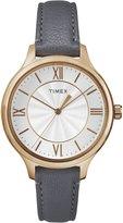 Timex Women's TW2R27700 Peyton Gray/Rose Gold-Tone Leather Strap Watch