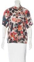 Dries Van Noten Floral Pattern Button-Up Top