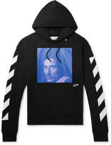 Off-White - Printed Fleece-Back Cotton-Jersey Hoodie