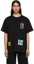 MM6 MAISON MARGIELA Black Logo Patchwork T-Shirt