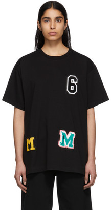 MM6 MAISON MARGIELA Black Logo Patchwork T-Shirt