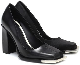 Peter Do Square toe leather pumps