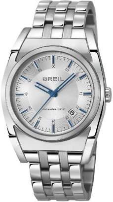 Breil Milano Unisex Quartz Watch with Silver Dial Analogue Display and Silver Stainless Steel Bracelet TW0972